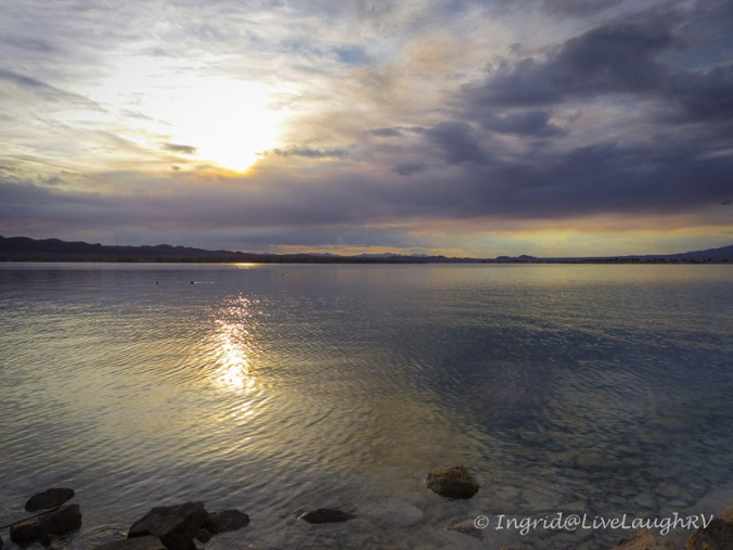 sunset at Lake Havasu