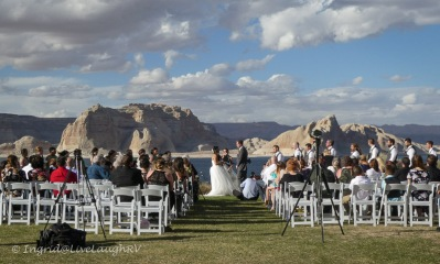 beautiful spot for a wedding - Lake Powell Resort