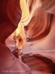 Hiking a slot canyon in northern Arizona
