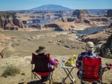 a scenic overlook - Lake Powell in southern Utah