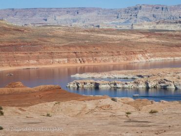 Blue waters of Lake Powell