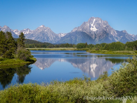 reflection at the Grand Tetons Wyoming