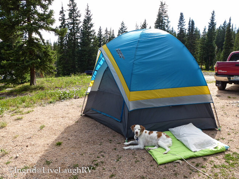 camping at Lake Irwin near Crested Butte Colorado