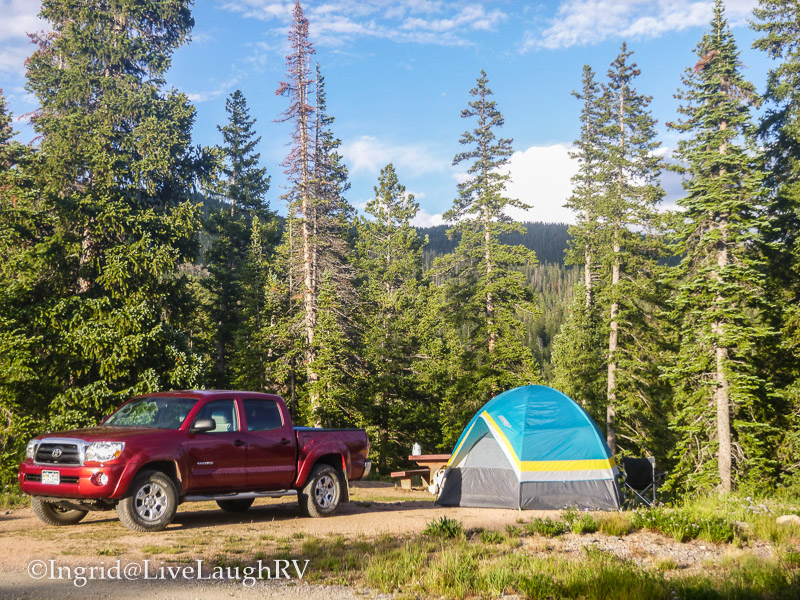 camping near Crested Butte, Colorado at Lake Irwin