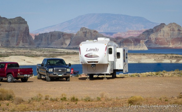 camping at Lake Powell