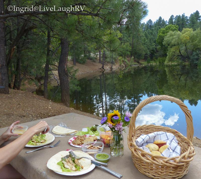 picnic at Lynx Lake Prescott Arizona
