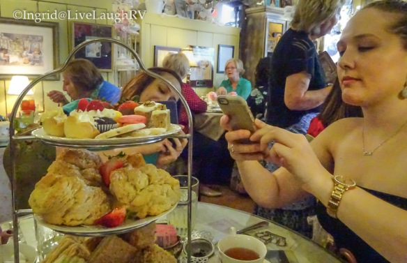 Tea Party at the English Rose Tea Room in Carefree Arizona