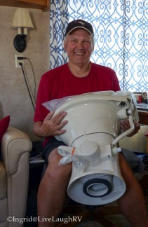 replace a RV toilet