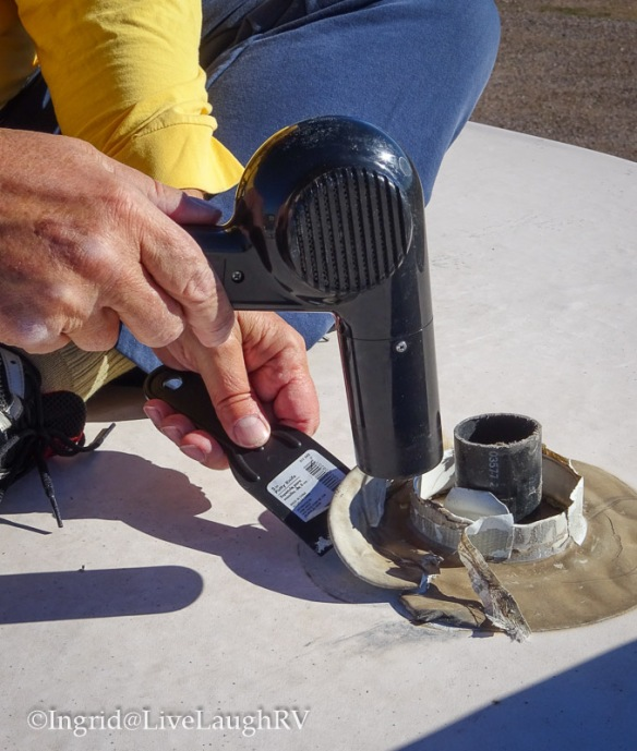 how to replace a RV rubber roof vent cap