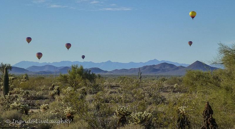 hot air balloons Cave Creek Regional Park Arizona