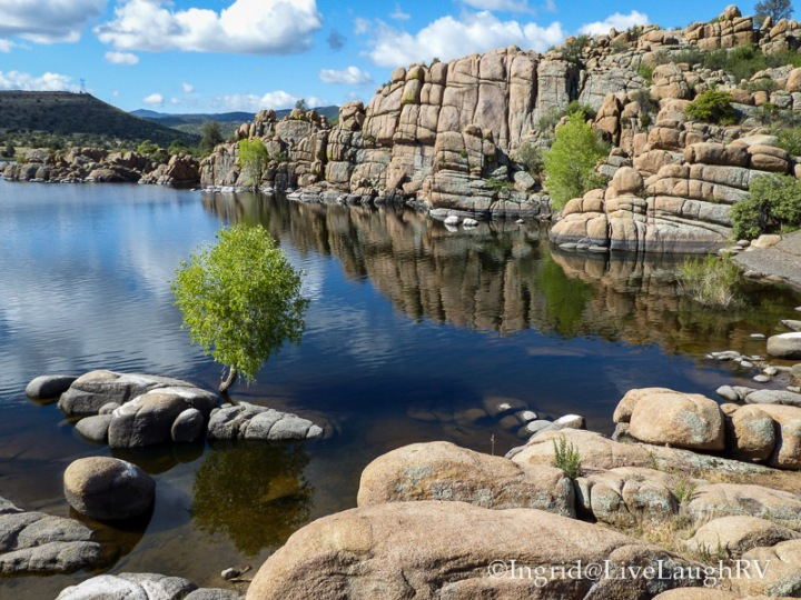 reflections at Watson Lake Prescott Arizona
