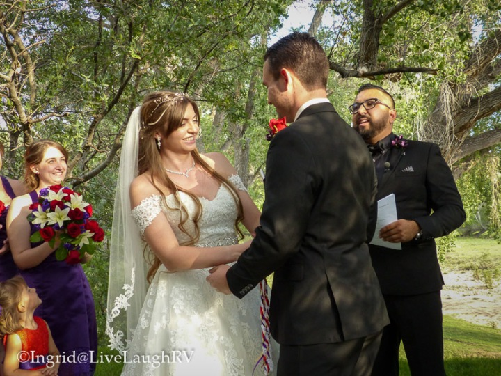 exchanging of wedding vows