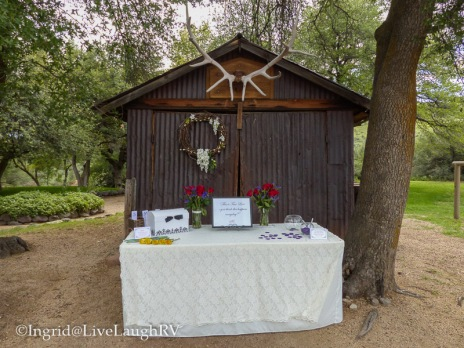 Register and gift table