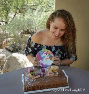 Barbie chocolate birthday cake