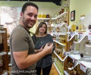 Spirits & Spice - son and daughter-in-law enjoy the samples