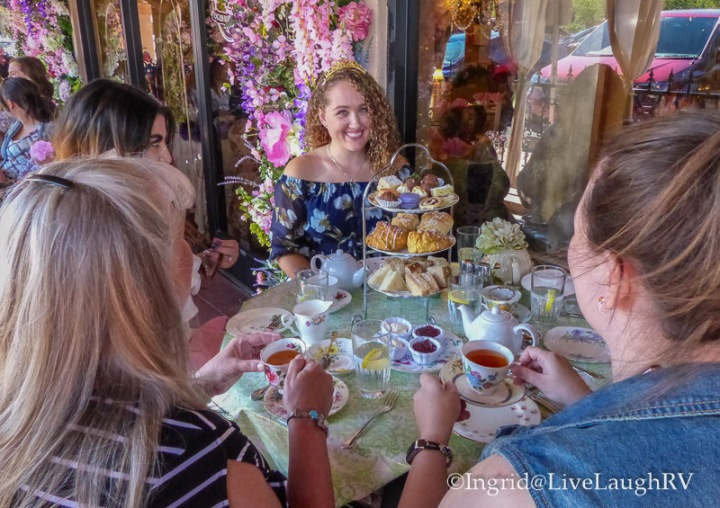 birthday celebration at the English Tea Room in Carefree, Arizona