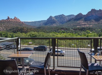 Awesome outdoor seating at the Wildflower Bread Company in Sedona