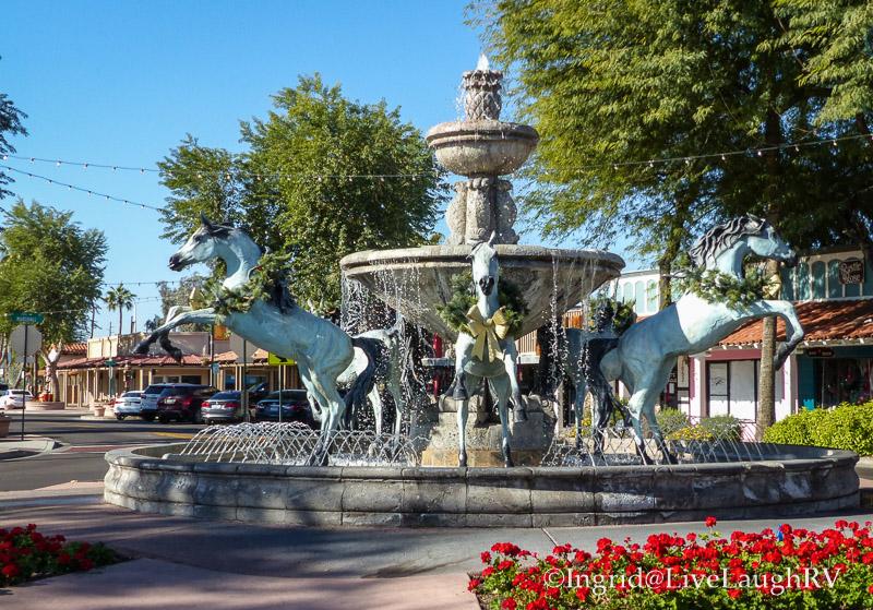 Bronze Horse Fountain Scottsdale Arizona