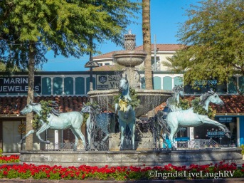 Bronze Horse Fountain Scottsdale Arizona