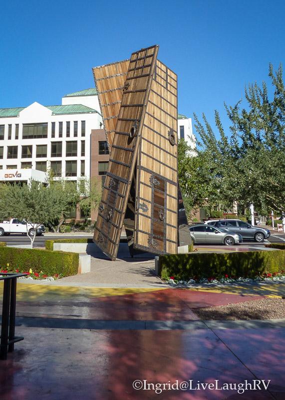 The Doors sculpture in Scottsdale Arizona