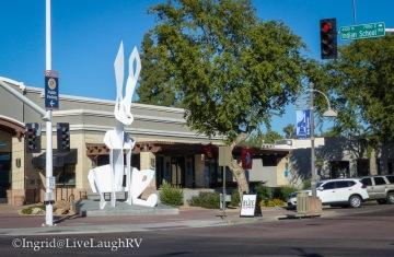 jackrabbit sculpture in Scottsdale Arizona