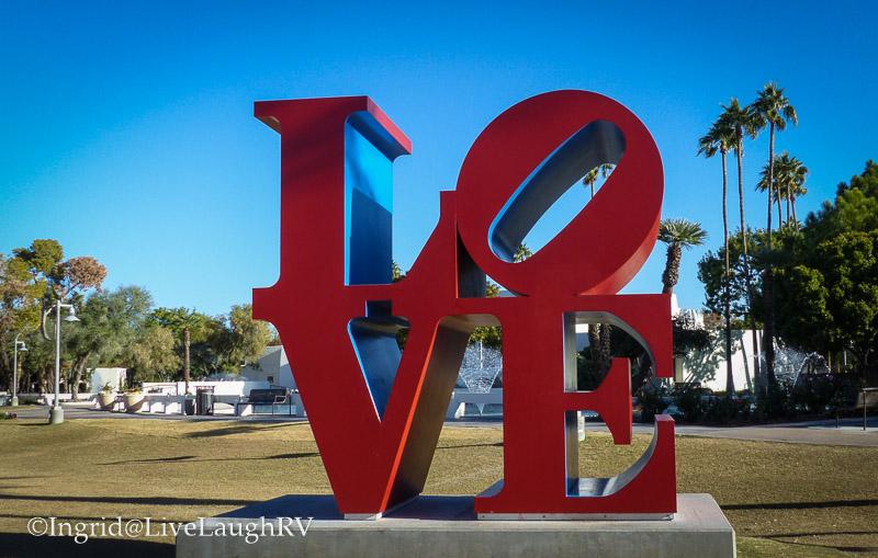Love sculpture in Scottsdale Arizona
