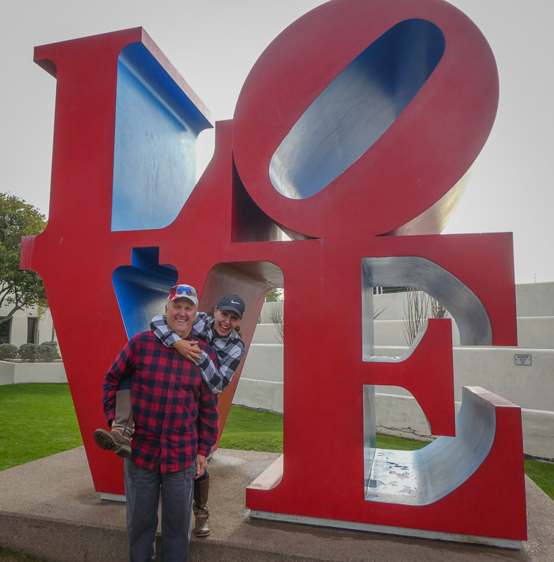 Scottsdale LOVE sculpture