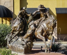 Passing the Legacy sculpture in Scottsdale