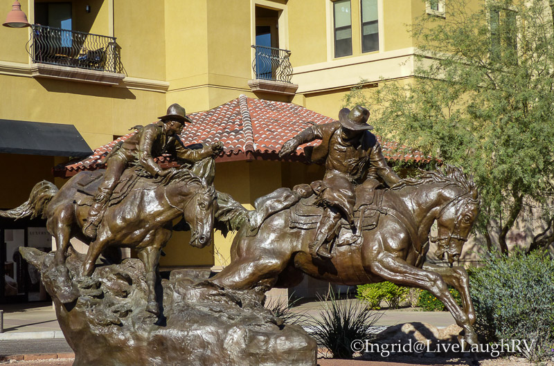 Passing the Legacy sculpture in Scottsdale Arizona