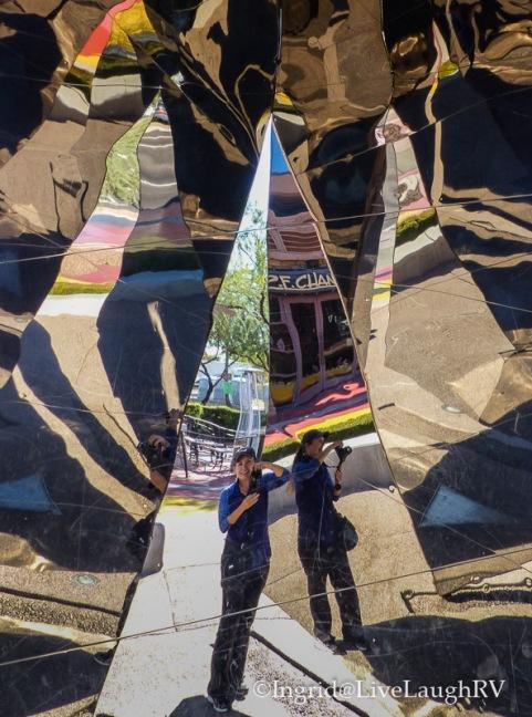 A kaleidoscope self-portrait visiting The Doors in Scottsdale Arizona