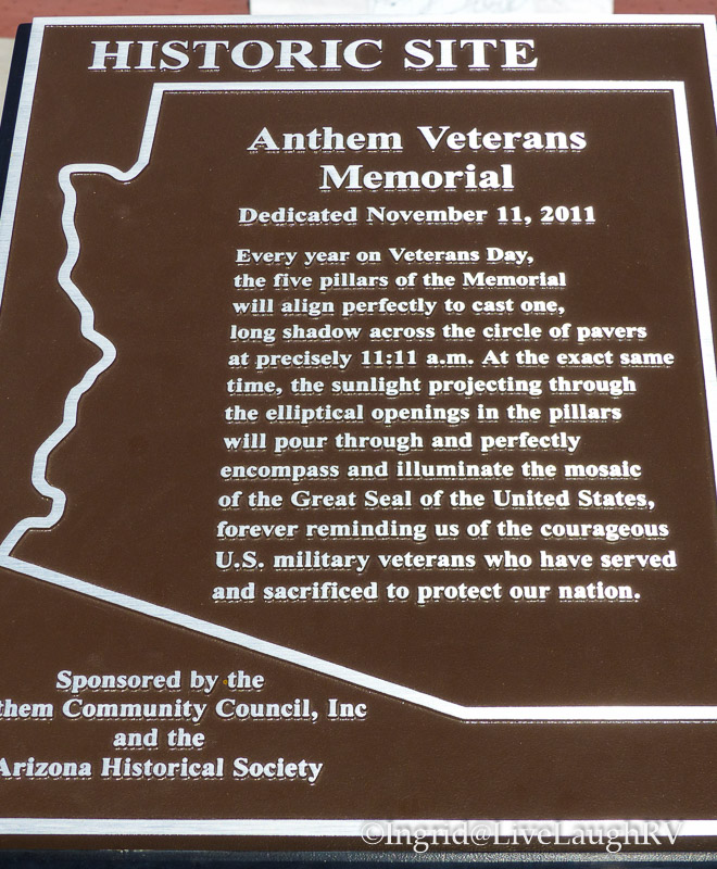 Veterans Memorial in Anthem, Arizona