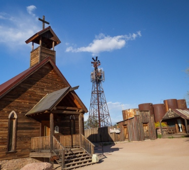 Goldfield Ghost Town church, Phoenix, Arizona history