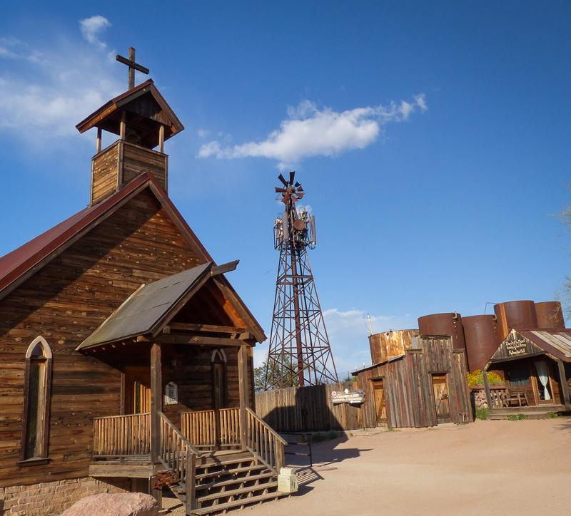 Goldfield Ghost Town church, Phoenix, Arizona history