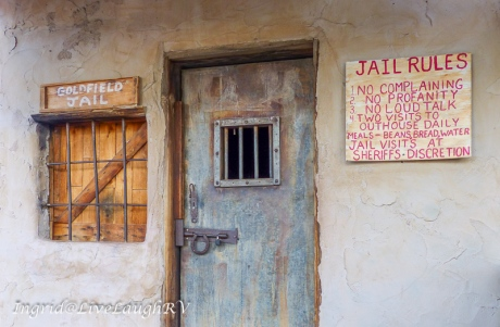 Goldfield Ghost Town jail, Apache Junction, Arizona