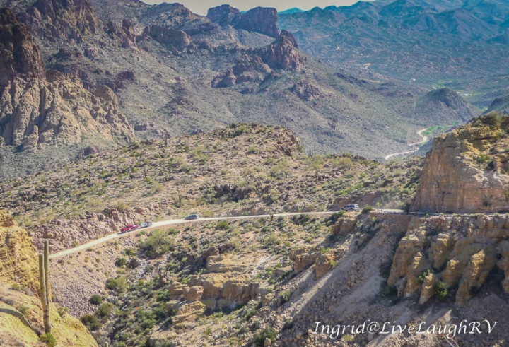 Fish Creek Pass, the Apache Trail, a scenic drive near Phoenix
