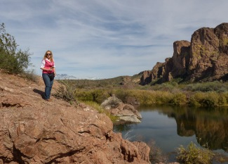 Scenic overlook near Phoenix, AZ