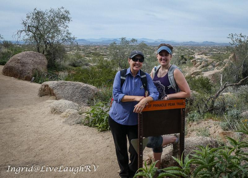 trail marker in Scottsdale, AZ