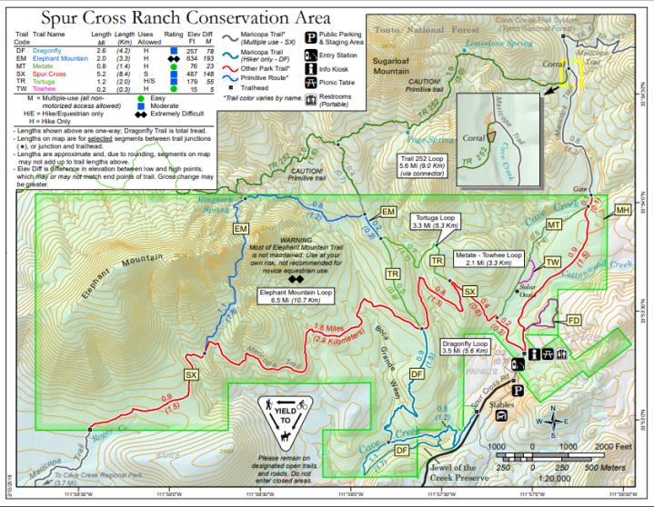 Spur Cross Trail Map