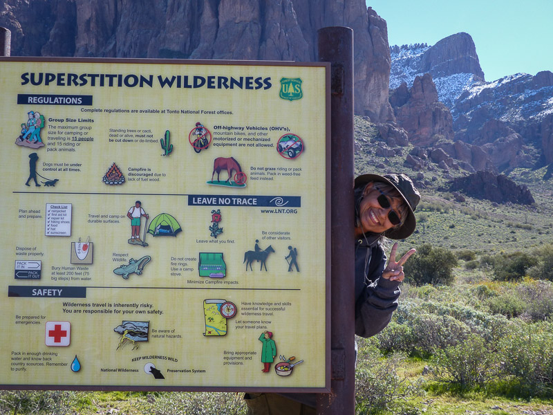 hiking the superstition wilderness