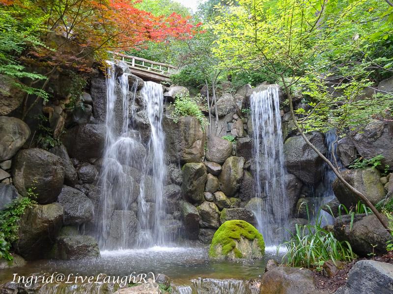 waterfall at the Japanese Tea Garden