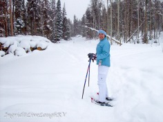 snowshoeing at Snow Mountain Ranch, Snowshoeing in Colorado, groomed trails for snowshoeing