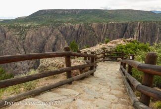 Scenic overlook at Black Canyon of the Gunnison National Park, Colorado