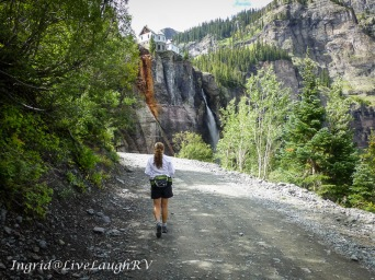 hiking to Bridal Veil Falls, #Bridal Veil Falls hike, #Telluride Colorado, #things to do in Telluride