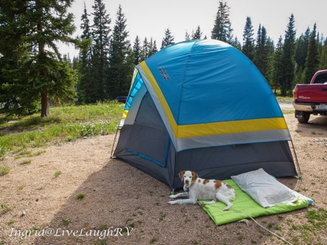 tent camping at Lake Irwin, Crested Butte, Colorado