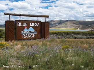 Blue Mesa RV Resort, camping near Gunnison Colorado, Full-hookups in Colorado