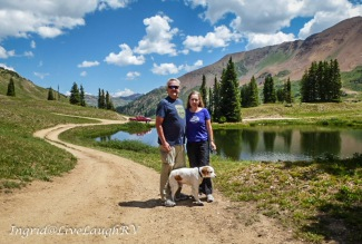 Schofield Pass, Crested Butte, Colorado, couple with dog in Colorado's high country, #12,000 in elevation, #Colorado high country