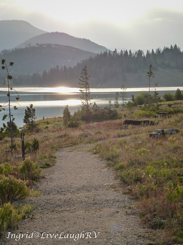 A trail at Steamboat Lake State Park, Colorado