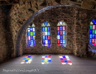Stained glass refections