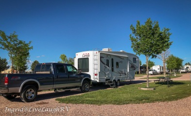 Great campsite at the Cabela's in Sidney, Nebraska