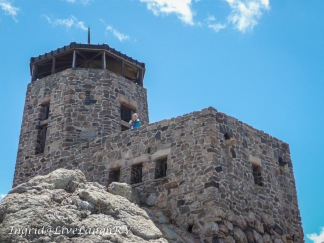 Historic building at the top of Black Elk Peak